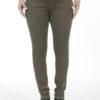 Jeans slim taille haute stretch Marron